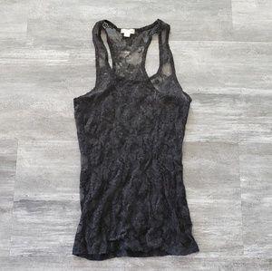 Black Lace Detailed Zenana Sheer Tank